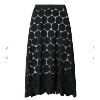 ルシェルブルー(LE CIEL BLEU)のルシェルブルー ドットスカート 34サイズ(ひざ丈スカート)