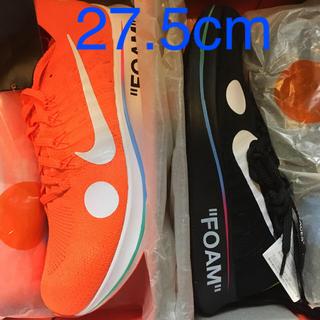ナイキ(NIKE)の27.5!黒&オレンジのセット Nike Off-White Zoom Fly (スニーカー)