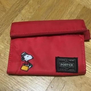 ポーター(PORTER)のレア‼PORTER×スヌーピー★ナイロン製三つ折り財布(財布)