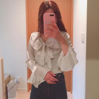ザラ(ZARA)の韓国ファッション ドット タイブラウス(シャツ/ブラウス(長袖/七分))