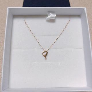 ジュエリーツツミ(JEWELRY TSUTSUMI)の美品❗️10KPG 2粒ダイヤモンドネックレス(ネックレス)