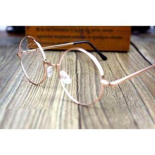 TG005 送料無料♪ゴールドクラシック丸メガネ レトロ伊達眼鏡(サングラス/メガネ)