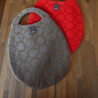 ミナペルホネン(mina perhonen)のミナペルホネン エッグバッグ 「タンバリン」チャコール(トートバッグ)