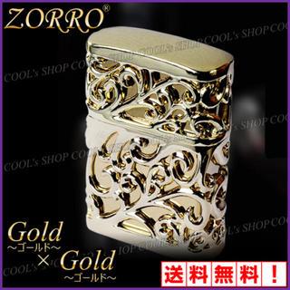 ゴールド ZORRO アラベスク デザイン オイルライター ZIPPO 金 人気(タバコグッズ)