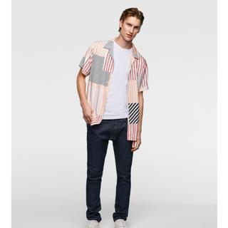 ザラ(ZARA)のストライプ柄フルイドシャツ(シャツ/ブラウス(半袖/袖なし))