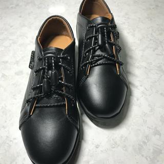 送料無料 子供シューズ フォーマルタイプ 牛革靴 20センチ クロ(フォーマルシューズ)