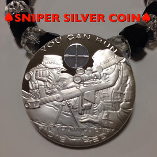 ♠︎SNIPER SILVER COIN♠︎ ミリタリー コイン(その他)