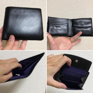 ポールスミス(Paul Smith)のポールスミス マルチストライプ 二つ折り財布 ブラック メンズ 牛革(折り財布)