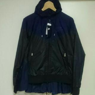 サカイ(sacai)のsacai × NlKE  ウィンドランナージャケット ネイビー×ブラック   (ナイロンジャケット)