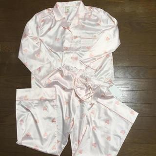 ジェラートピケ(gelato pique)の新品未使用  ジェラートピケ  ハートサテンシャツパンツ 上下セット  (ルームウェア)