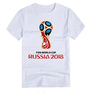 2018 FIFAロシアワールドカップサッカープリントTシャツ 男性女性両方(記念品/関連グッズ)