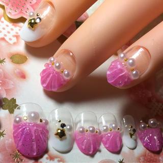 ネイルチップ ピンク!(つけ爪/ネイルチップ)