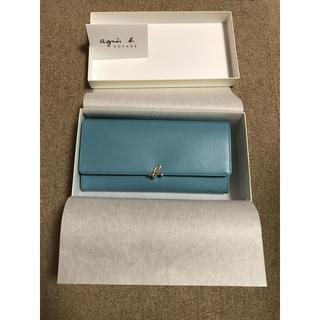 アニエスベー(agnes b.)のアニエス・ベー 長財布 ブルー blue(財布)