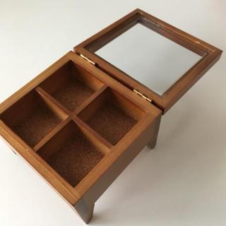 ✿木製ガラス天井ジュエリーボックス(アクセサリー収納ケース)✿(小物入れ)