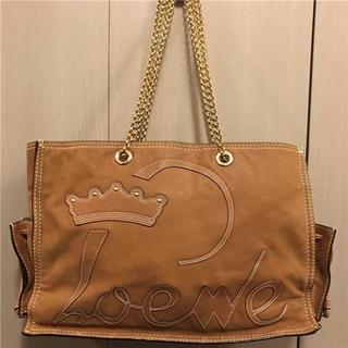 ロエベ(LOEWE)の美品約25万円LOEWE 大型チェーンレザーバッグ(ハンドバッグ)