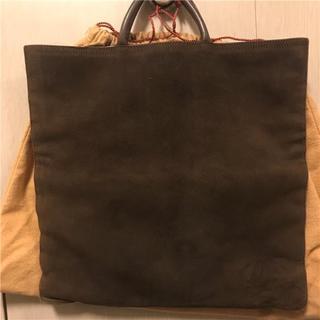 ロエベ(LOEWE)の綺麗 約15万円LOEWE(ロエベ) ダークブラウンスウェードレザーバッグ(ハンドバッグ)