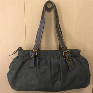 ミュウミュウ(miumiu)の美品miumiu 約13万円 デニム×本革バッグ(ハンドバッグ)