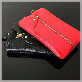 ブラック コインケース キーケース 6連 長財布 カードケース 小銭入れ 財布(キーケース)