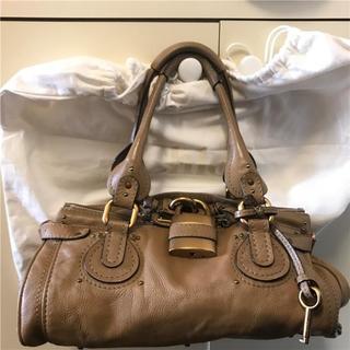 クロエ(Chloe)の美品 クロエそごう横浜店約21万 chloe 大型キャメルパディントン(ハンドバッグ)