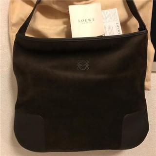 ロエベ(LOEWE)の美品 LOEWE 約20万円 スウェードレザーバッグ フルセット(ハンドバッグ)