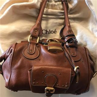クロエ(Chloe)の美品chloe 約22万円 大型ブラウンパディントン(ハンドバッグ)