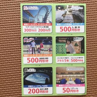 東京ドームシティ特別優待券(遊園地/テーマパーク)