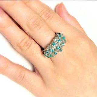 ✨綺麗‼️贅沢の極み✨パライバトルマリン・ダイヤモンドリング✨(リング(指輪))