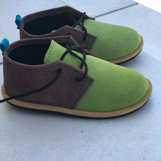 キッズ スエード 靴 16センチ(フォーマルシューズ)