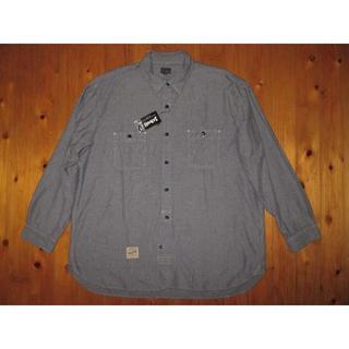 ショット(schott)のショットSchott BROS ヘリンボーン長袖ネルシャツ グレー サイズ5L(シャツ)