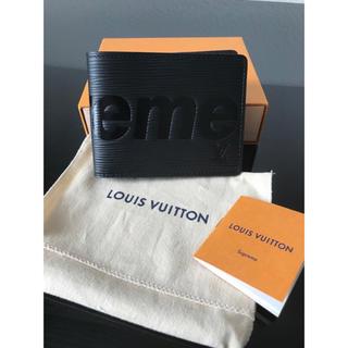 ルイヴィトン(LOUIS VUITTON)のLouis Vuitton×supreme 二つ折り財布 ブラック 新品未使用(折り財布)