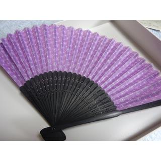 【購入者様専用】紫色の扇子(和装小物)