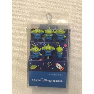ディズニー(Disney)のリトルグリーンメン ランチピック(弁当用品)