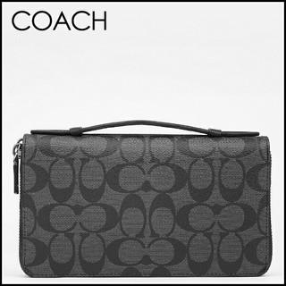 コーチ(COACH)の正規保証 コーチ シグネチャーレザー トラベルジップ長財布 新品(長財布)