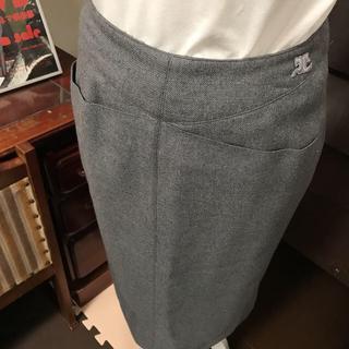 クレージュ(Courreges)の昭和 レトロ クレージュ グレー スカート(ひざ丈スカート)
