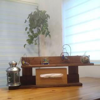 【ウォールシェルフ~2段壁掛棚】(家具)