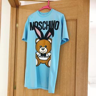 モスキーノ(MOSCHINO)の定価16万☆美品☆モスキーノ☆Tシャツ☆ブルー(Tシャツ(半袖/袖なし))