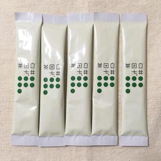 白井田七。茶*健康サポート 粉末緑茶*お試し5包(健康茶)