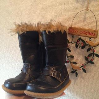 サンカンシオン(3can4on)のブラウン★ブーツ 15cm(その他)