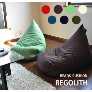 日本製のしっかり品質☆部屋に置いても超おしゃれ! 快眠快適エコビーズクッション
