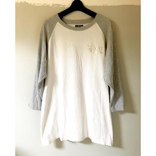 ステューシー(STUSSY)のSTUSSY 25周年記念ワールドツアープリント ラグランT(Tシャツ/カットソー(七分/長袖))