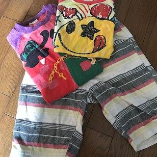 ジーユー(GU)の110㎝ Tシャツ2枚  ハーフパンツ1点セット(その他)