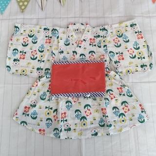 プチジャム(Petit jam)の120cm 新品 浴衣 プチジャム 女の子 キッズ ゆかたドレス(甚平/浴衣)