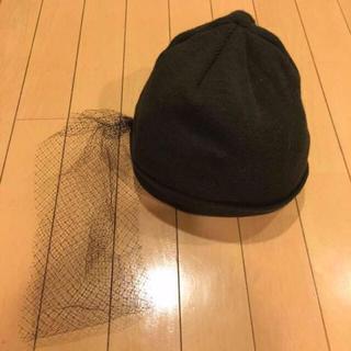 アクアガール(aquagirl)のaquagirl チュール付きニットキャップ(ニット帽/ビーニー)