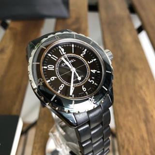 シャネル(CHANEL)のCHANEL J12 メンズ 時計 ブラック 自動巻 H0684(腕時計(アナログ))