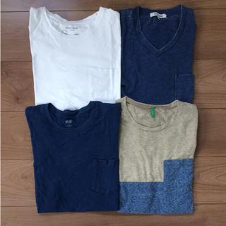 グローバルワーク(GLOBAL WORK)のシンプルベーシックポケットTシャツ Mサイズセット(Tシャツ/カットソー(半袖/袖なし))