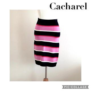 キャシャレル(cacharel)のCacharelマルチボーダー ニットスカート(ひざ丈スカート)