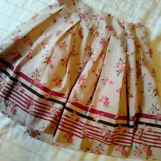 ピンキーガールズ(PinkyGirls)のピンキーガールズ 花柄スカート(ひざ丈スカート)