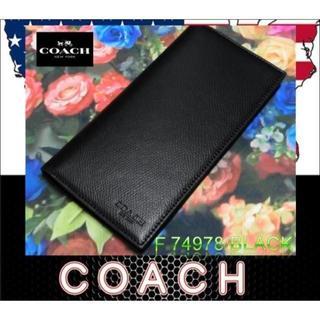 コーチ(COACH)のコーチ COACH 長財布 F74978クロスグレーン レザー (長財布)