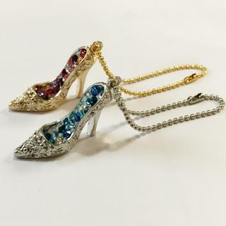 ガラスの靴 シンデレラ ハイヒール 靴 チャーム ネックレストップ
