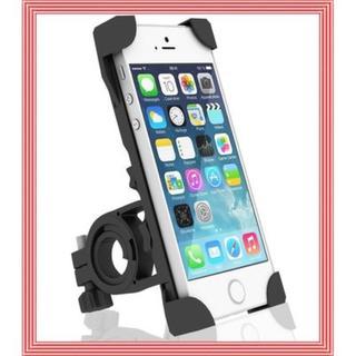 自転車/バイク スマホホルダー 固定用マウント 360度回転 脱落防止(その他)